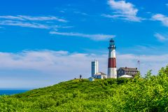 Лонг-Айленд Нью-Йорк маяка пункта Montauk стоковая фотография