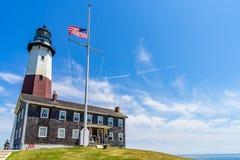Лонг-Айленд Нью-Йорк маяка пункта Montauk стоковые изображения rf