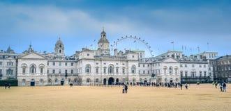 Лондон/Англия - 02 08 2017: Взгляд на музее кавалерии домочадца с глазом Лондона Стоковое Изображение
