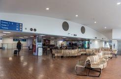 ЛОНДОН, АНГЛИЯ - 29-ОЕ СЕНТЯБРЯ 2017: Зона строба отклонения авиапорта Лутон Лондон, Англия, Великобритания Стоковая Фотография