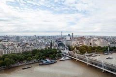 22 07 2015, ЛОНДОН, ВЕЛИКОБРИТАНИЯ Взгляд Лондона от глаза Лондона Стоковые Изображения