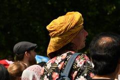24/06/2018 Лондон Великобритания Красочная прогулка на дороге в солнечном дне Стоковые Фото