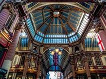 ЛОНДОН, ВЕЛИКОБРИТАНИЯ - 14-ОЕ ИЮНЯ: Рынок Leadenhall в Лондоне 14-ого,2 июня Стоковые Фотографии RF