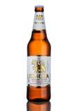 ЛОНДОН, ВЕЛИКОБРИТАНИЯ - 15-ОЕ МАРТА 2017: Бутылка пива Singha, пива Singha самый популярный в Таиланде, Rayong, Таиланде Стоковое Изображение RF