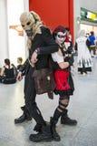 ЛОНДОН, ВЕЛИКОБРИТАНИЯ - 26-ОЕ ОКТЯБРЯ: Cosplayers одело как Harley Quinn a стоковая фотография rf
