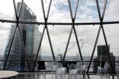 Лондон, Великобритания - 17-ое сентября 2017: взгляд корнишона строя в течение дня Стоковое Изображение