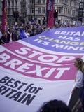 Лондон, Великобритания - спичка 23, 2019: Самое лучшее для служак Британии социальных протестуя против Brexit стоковое фото rf