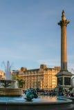 ЛОНДОН - 12-ОЕ НОЯБРЯ: Квадрат Trafalgar в Лондоне 12-ого ноября Стоковые Фото