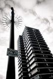 ЛОНДОН - 18-ОЕ ЯНВАРЯ: Старая зона улицы центра города Лондона на января Стоковое Изображение