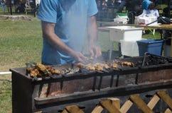 Лондон Онтарио, Канада - 10-ое июля 2016: Протыкальник мяса Coocking для Стоковые Изображения