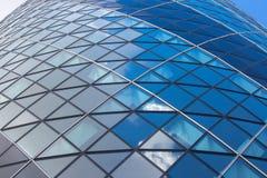 ЛОНДОН, современная английская архитектура, текстура корнишона строя стеклянная город london Стоковая Фотография