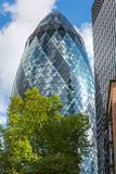 ЛОНДОН, современная английская архитектура, текстура корнишона строя стеклянная город london Стоковые Изображения RF