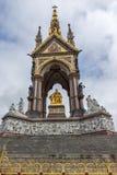 Лондон, Англия - 18-ое июня 2016: Мемориал принца Альберта, Лондон Стоковое Изображение