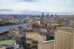 Лондон - большое Бен, парламент Великобритании и река Темза Стоковые Изображения RF