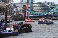 Лондон, Великобритания. 1-ое сентября 2013. Клипер вокруг мира Yac Стоковые Фото