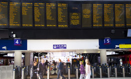 ЛОНДОН, Великобритания - станция international 14-ое мая 2014 - Ватерлоо Стоковое Изображение RF