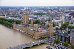 Лондон - взгляд к городу и St Pauls Стоковые Фотографии RF