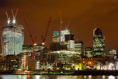 Лондон город к ноча Стоковые Изображения