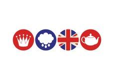 Лондон Комплект значка Стоковое фото RF