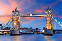 Лондон - мост башни, Великобритания стоковое изображение