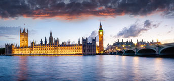 Лондон на сумраке Стоковые Фото