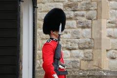 Лондон - 1-ое июня: Великобританский воин на обязанности Стоковое Изображение