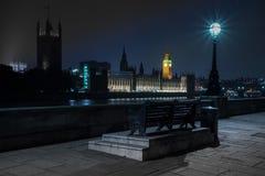 Лондон дом большого Бен и парламента на Темзе Стоковые Изображения