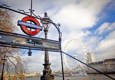 Лондон подземный Стоковое Фото