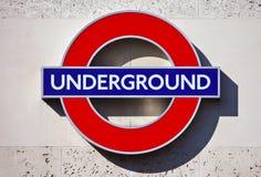 Лондон подземный Стоковые Фотографии RF