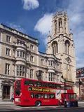 Лондон, улица флота, церковь St Dunstan Стоковое Изображение