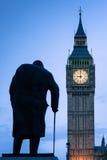Лондон - Черчилль и большое Бен стоковое изображение rf