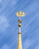 Лопасть погоды на здании Адмиралитейства в Санкт-Петербурге Стоковые Фотографии RF