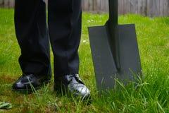 лопата бизнесмена Стоковые Фотографии RF