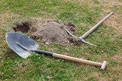 лопата выбора травы Стоковые Фото