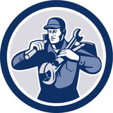 Лопата гаечное ключа ремонтника разнорабочего ретро Стоковое Фото