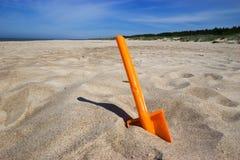 лопата лопаткоулавливателя пляжа Стоковые Изображения
