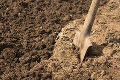 лопата почвы лопаткоулавливателя Стоковые Фотографии RF