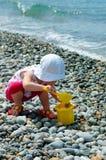 лопаткоулавливатель детских игр ведра Стоковое Изображение