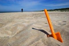 лопаткоулавливатель пляжа Стоковое фото RF