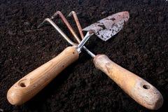 лопаткоулавливатель сгребалки малый стоковое фото rf