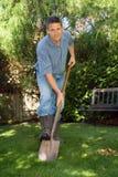 лопаткоулавливатель человека Стоковая Фотография RF