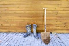 лопаткоулавливатель gumboots Стоковая Фотография RF