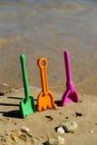 Лопаткоулавливатели пляжа - 01 Стоковая Фотография