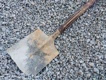 Лопаткоулавливатель на утесах в строительной площадке Стоковое Фото