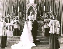 лорд пар церков хваля венчание стоковые фото