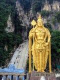 Лорд Murugan Статуя в пещере Batu, Малайзии стоковое фото rf