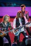 Лоренс Gowan, Риккии Phillips & Томми Shaw STYX выполняя на концерте Калифорнии Стоковое Изображение