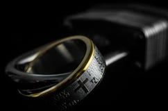 Лорды Молитва Кольцо на Padlock Стоковые Изображения