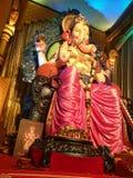 Лорд Ganesh во время фестиваля Ganesh Chaturthi Ganapati Bappa Morya! Стоковое Фото