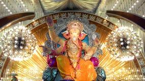 Лорд Ganesh во время фестиваля Ganesh Chaturthi Ganapati Bappa Morya! Стоковая Фотография RF